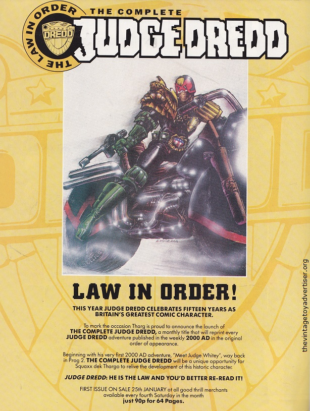 Does anyone else collect judge dredd comic or figures? Uk_20010