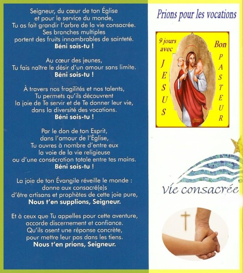 9 jours avec Jésus Bon Pasteur (17/25 avril) Vocati10