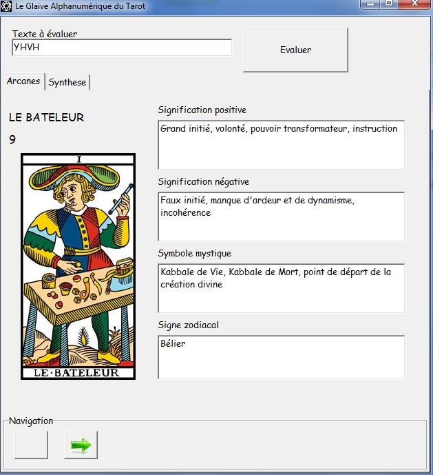 Le Glaive Alphanumérique du Tarot Batele10