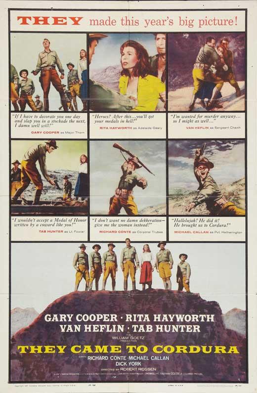 Ceux de Cordura. They came to Cordura. 1959. Robert Rossen. F10