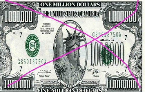 maroc - Le billet de 1 million de Dollars refait son apparition au Maroc Dollar10