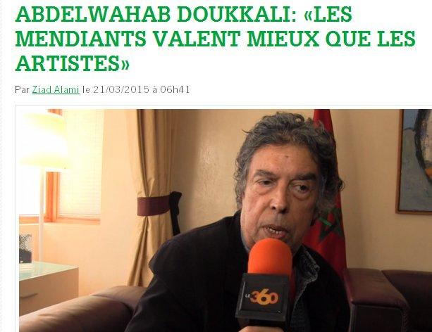 Le très talentueux professeur Abdelouahab Doukali s'indigne Doukka10