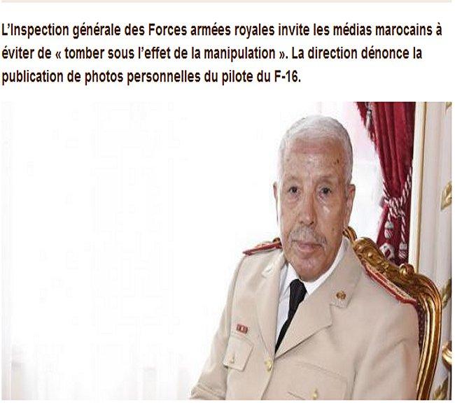 La direction des FAR rappelle à l'ordre des médias marocains Far_de10