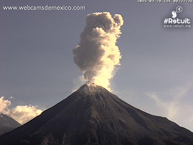 Colima Volacano errupting! Vol210