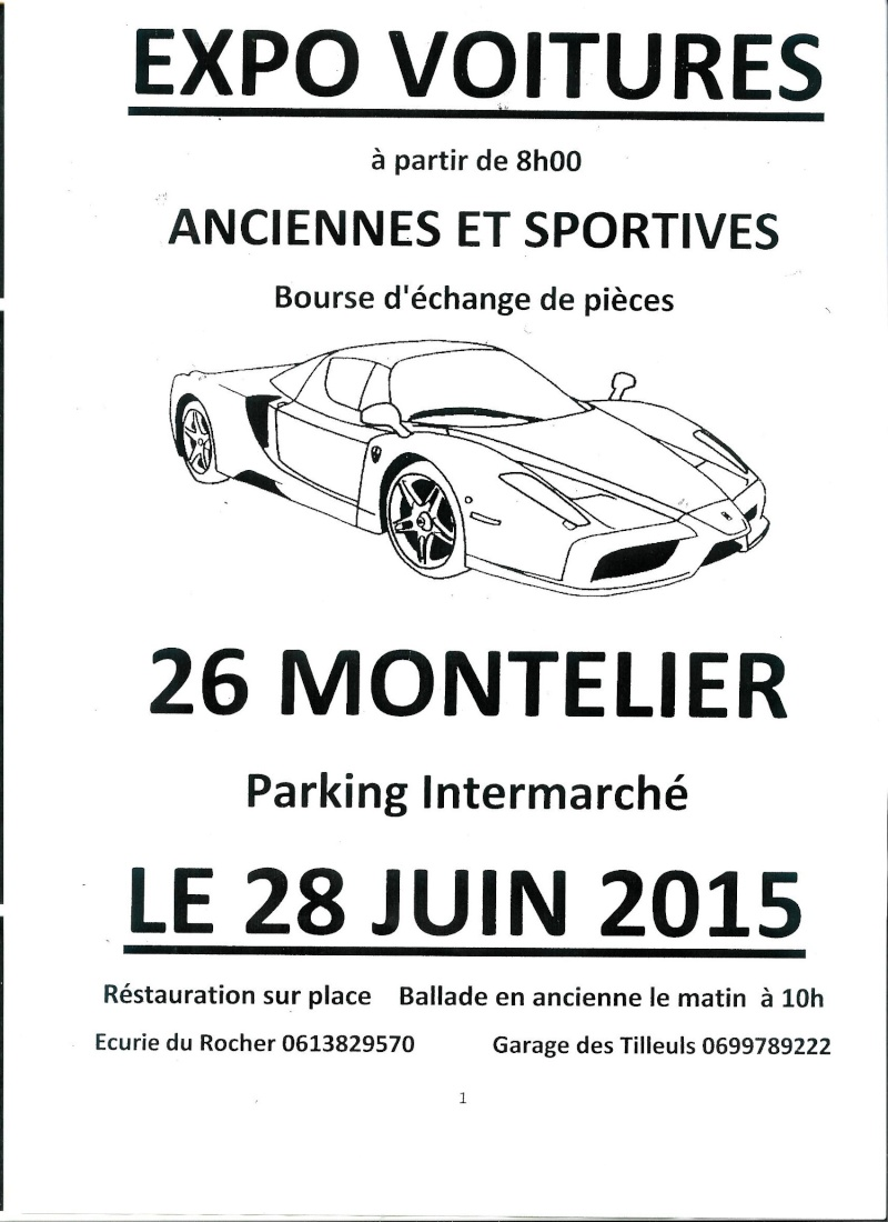(26)[28 JUIN2015]Expo Voitures Parc Intermarché Montelier -  Montel14