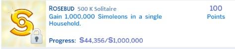 Spades Klondike's Solitary Life: BG's Rosebud 500K Solitaire Challenge Completed 500_k_10