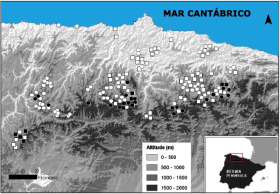 Distribución espacial y selección de hábitat al norte de España Sin_ty45