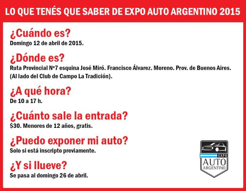Expo Auto Argentino - 6º Edicion Cartel10