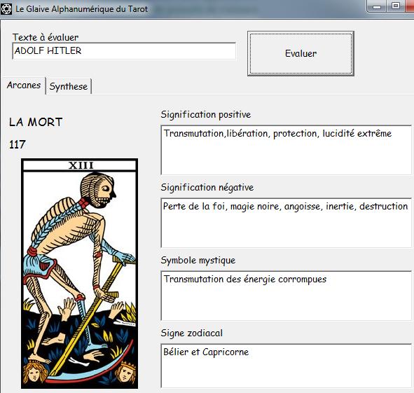Le Glaive Alphanumérique du Tarot Ah10