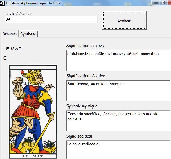 Le Glaive Alphanumérique du Tarot Ba10