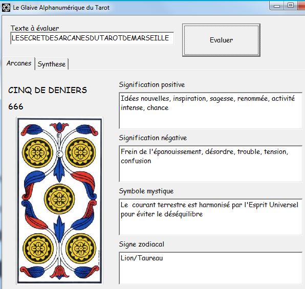 Le Glaive Alphanumérique du Tarot Lesecr10