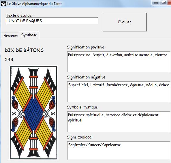 Le Glaive Alphanumérique du Tarot Synthe10