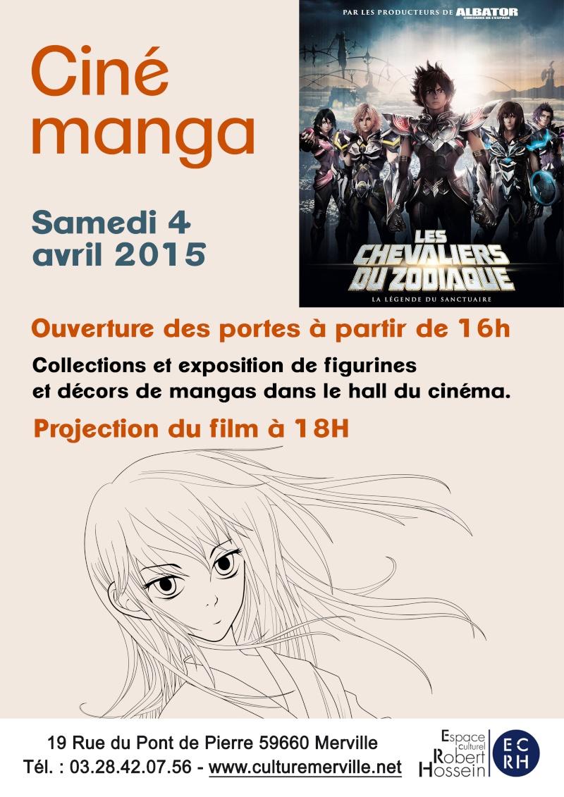 """Ciné-manga """"Chevaliers du Zodiaque"""" 04/04/2015 (Merville 59660) Affich10"""