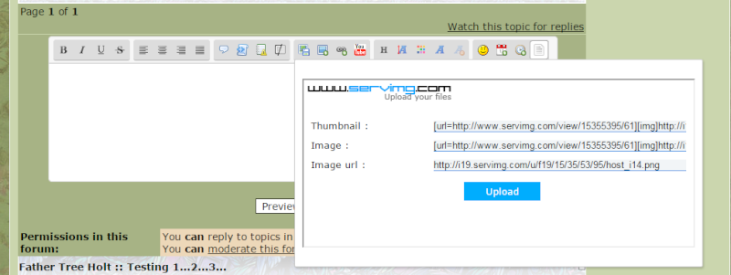 How to host your pictures through the site Url10