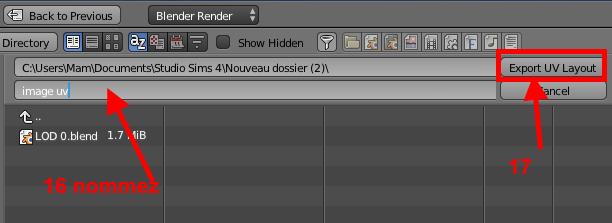 [Apprenti] Récupérer l'UV Map d'un objet pour faciliter sa recoloration   avec Sims 4 Studio   1310