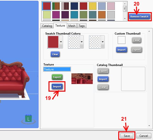 [Apprenti] Récupérer l'UV Map d'un objet pour faciliter sa recoloration   avec Sims 4 Studio   1610
