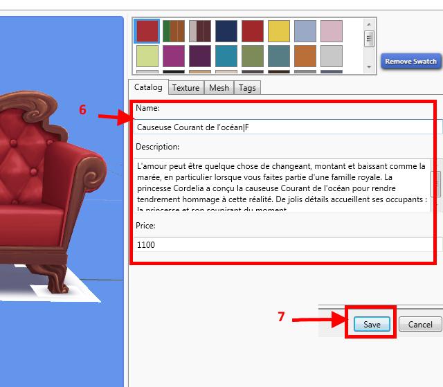 [Apprenti] Récupérer l'UV Map d'un objet pour faciliter sa recoloration   avec Sims 4 Studio   410