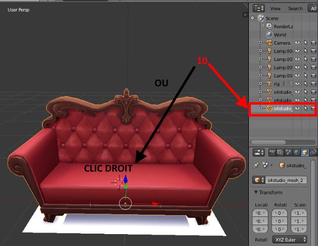 [Apprenti] Récupérer l'UV Map d'un objet pour faciliter sa recoloration   avec Sims 4 Studio   710