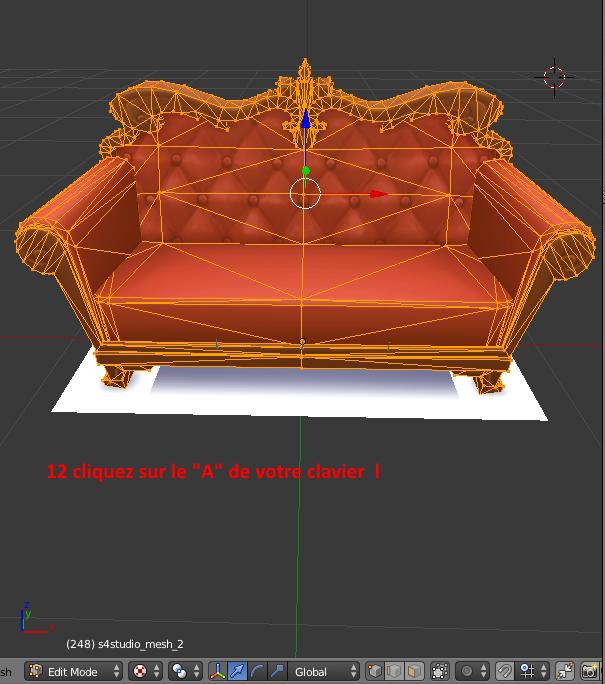 [Apprenti] Récupérer l'UV Map d'un objet pour faciliter sa recoloration   avec Sims 4 Studio   910