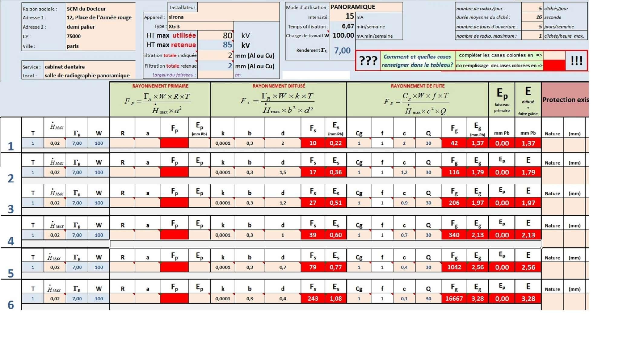 PCR Dentaire > aide pour le calcul analytique sous DICOMEX - Page 2 Exempl12