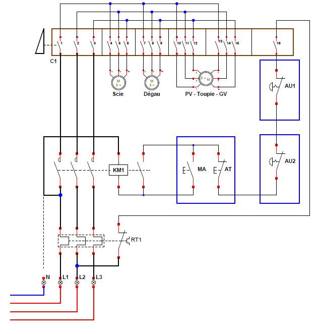 branchement électrique toupie scie chambon 158 TS - Page 2 Combin11