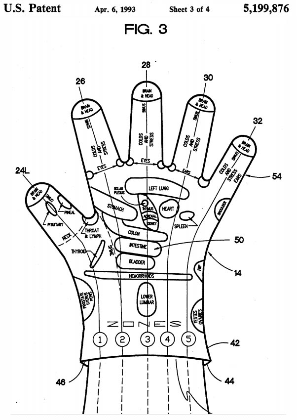 Strange patent... for a 'hand reflexology glove'!??? Hand-r11