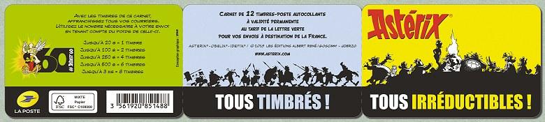 Carnet Astérix TOUS TIMBRÉS ! TOUS IRRÉDUCTIBLES ! Asteri18