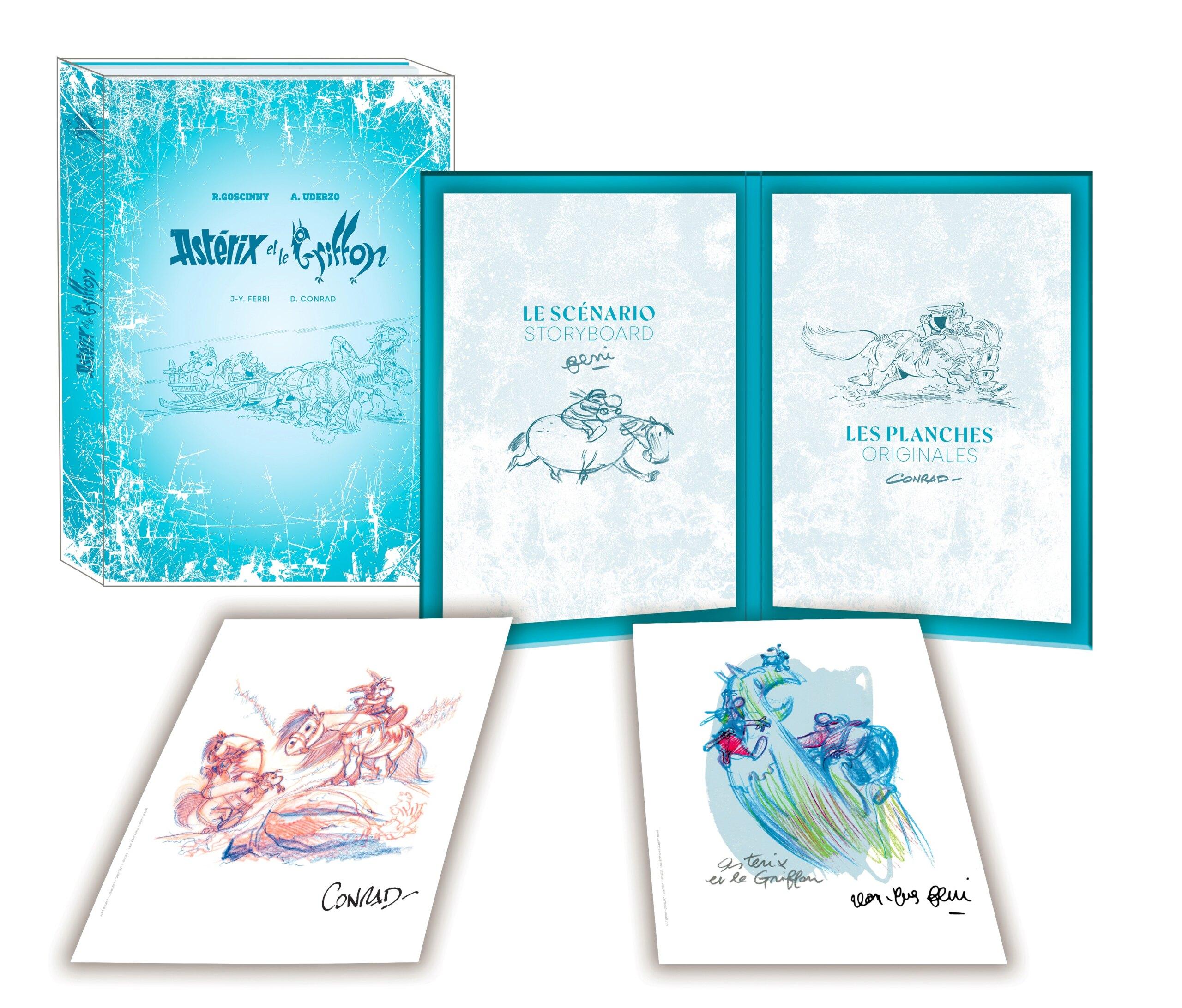 """Version luxe et Artbook de l'album """"Astérix et le Griffon"""" octobre 2021 Astzor12"""