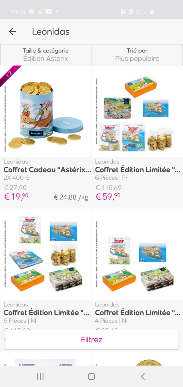 Bon plan: chocolat leonidas Asterix sur Veepee Screen27