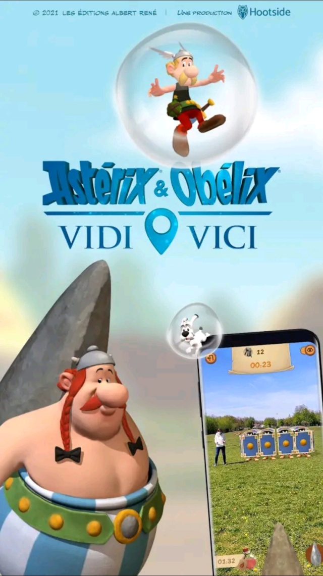 Astérix Vidi Vici: jeu mobile en réalité augmentée  - printemps 2021 Screen38