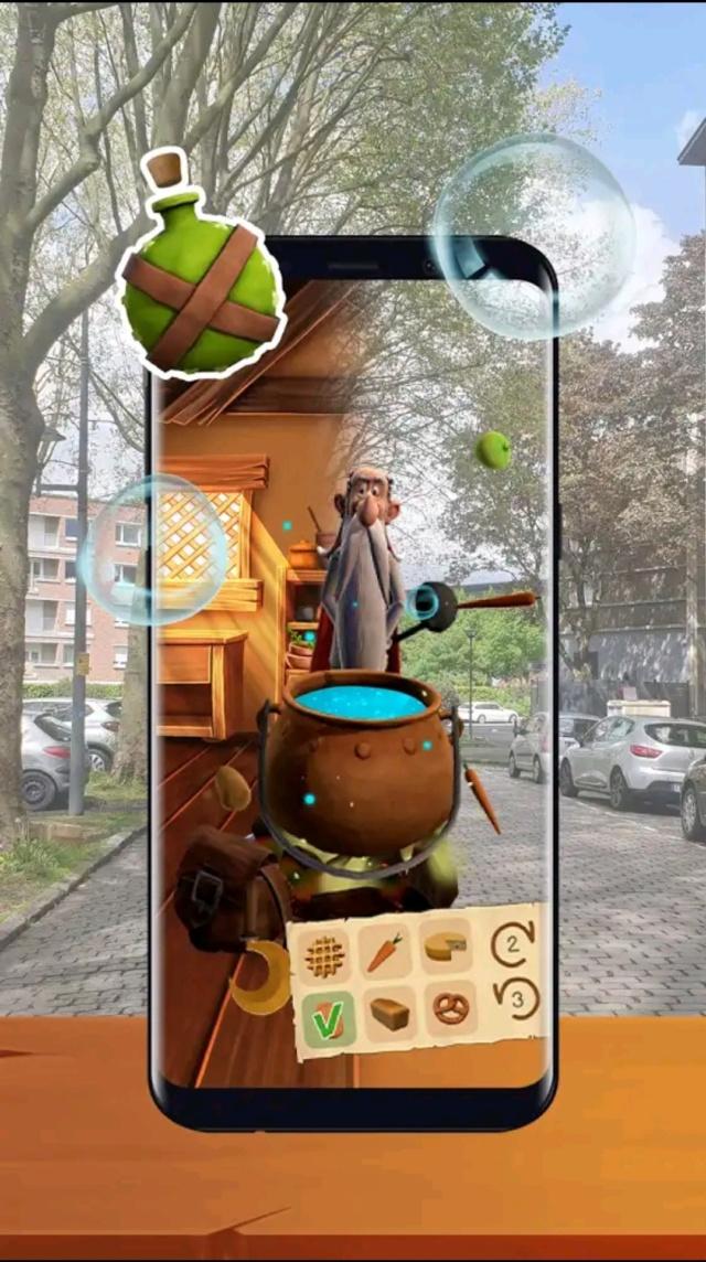 Astérix Vidi Vici: jeu mobile en réalité augmentée  - printemps 2021 Screen39