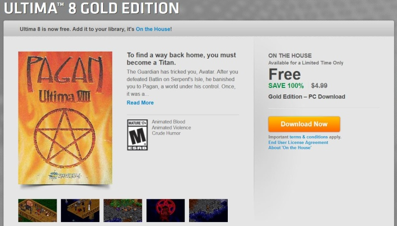 Origin On The House Free Game: Ultima™ 8 Gold Edition  (1994)  Free0310