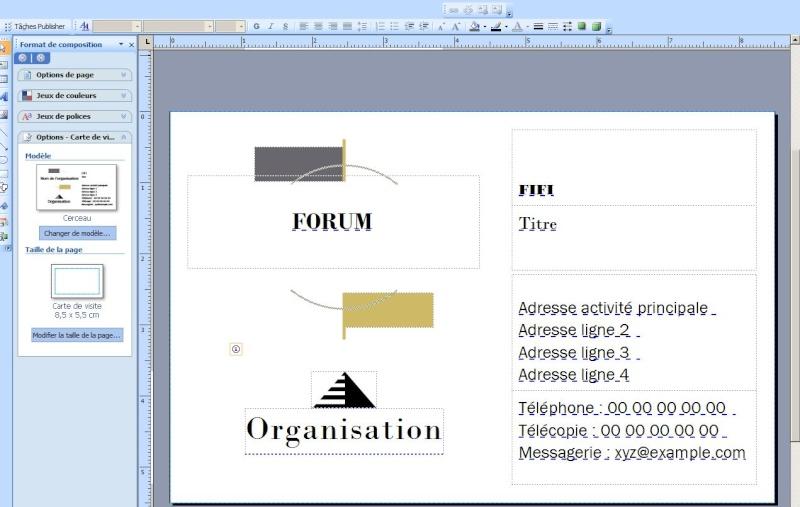 Savez-vous utiliser publisher, dans la suite bureautique Captur15