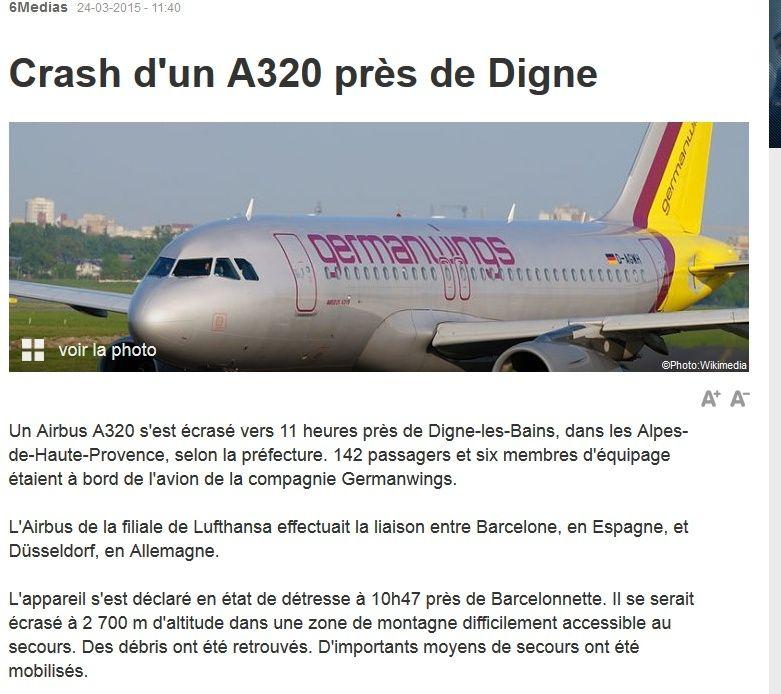 Crash d'un airbus A320 près de Digne. 2015-012
