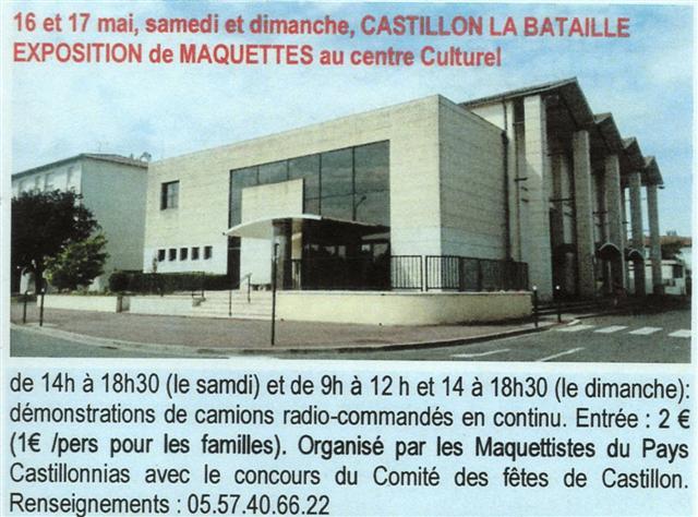 Deux exposition a venir en france. Castil11