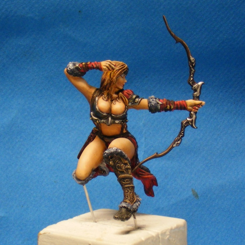Shauna and the wolf  : DRACONIA miniatures 54mm 00210