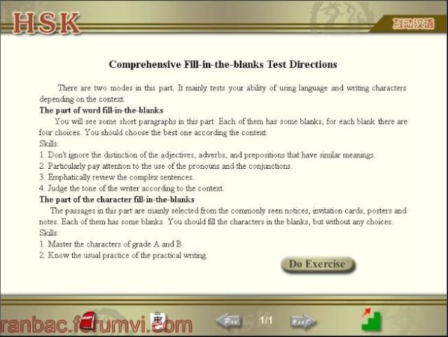 Phần mềm luyện thi HSK 610