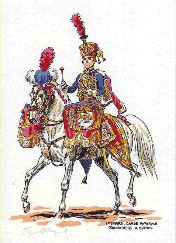 Timbalier des grenadiers à cheval de la Garde Impériale 00510