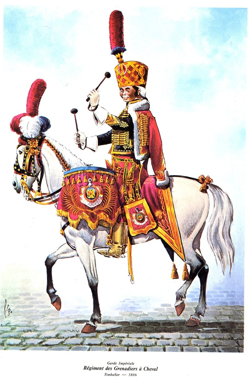 Timbalier des grenadiers à cheval de la Garde Impériale Es110