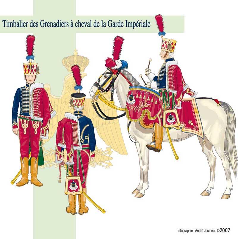 Timbalier des grenadiers à cheval de la Garde Impériale Timbag10