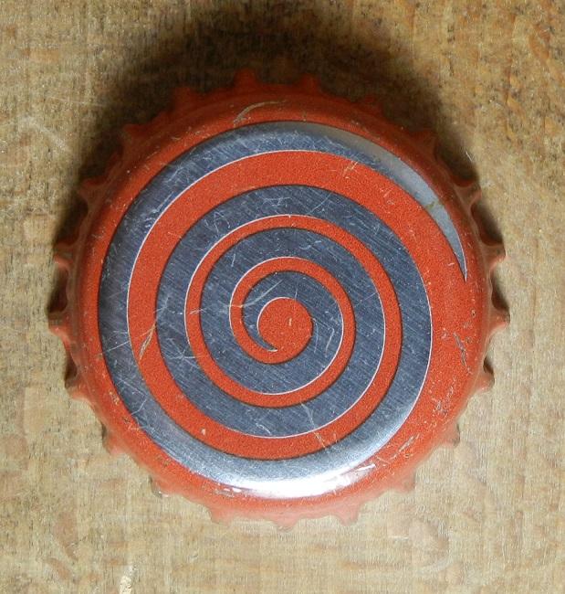 Spirale argentée - Motif doré sur fond bleu Dscn1010