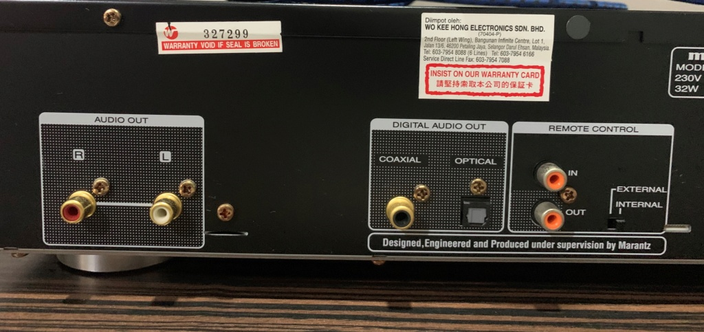 Marantz CD6005 CD Player Cd_212