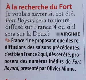 Rediffusions Fort Boyard sur France 4 + Audiences (Hiver 2014-2015) - Page 20 20150410