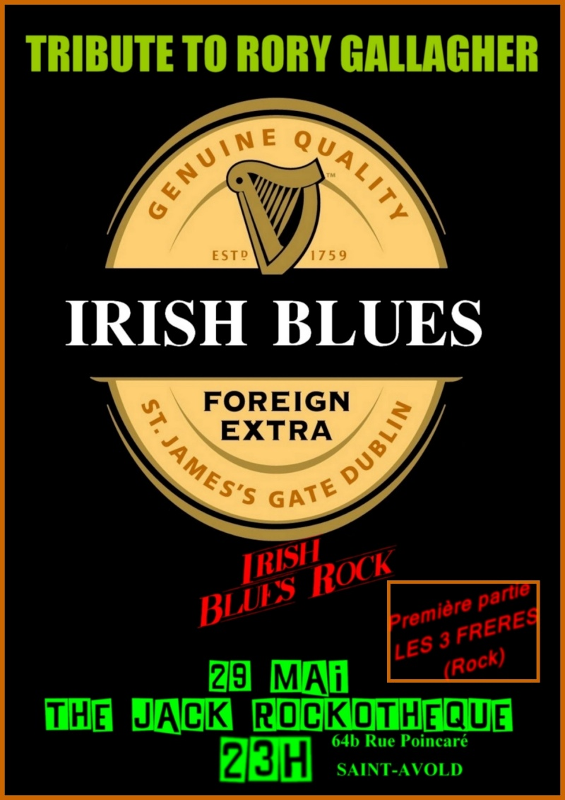 Irish Blues, tribute band Rory Gallagher Affich11