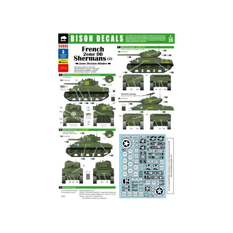 """Sherman M4A3 76 mm """" 2éme DB """" ( boite a rabiot 1/35éme ) Bison-10"""