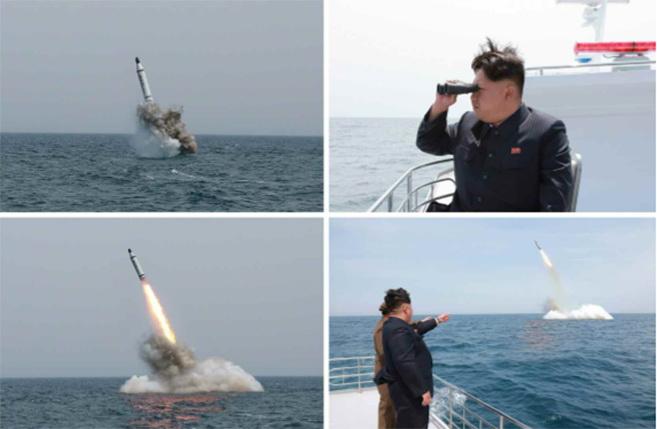 Corée du Nord : sous-marin lance-missile balistique Sans-t10