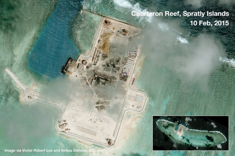 China build artificial islands in South China Sea Cuarte10