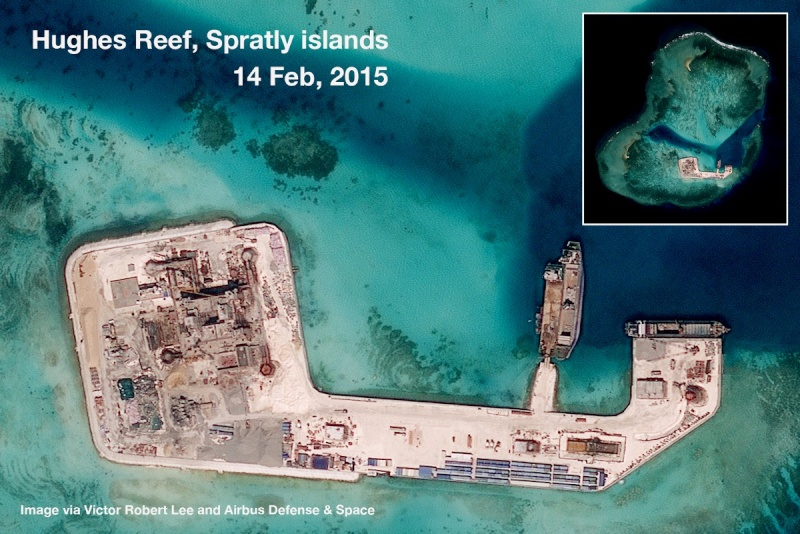 China build artificial islands in South China Sea Hughes10