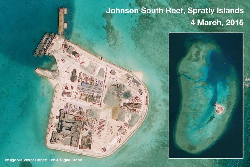 China build artificial islands in South China Sea Johnso10