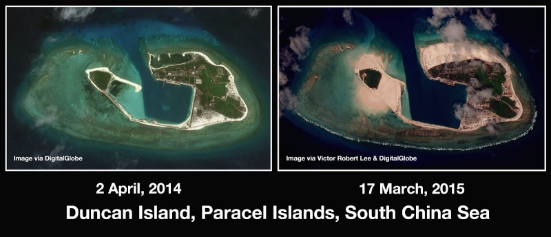 China build artificial islands in South China Sea Thedip12